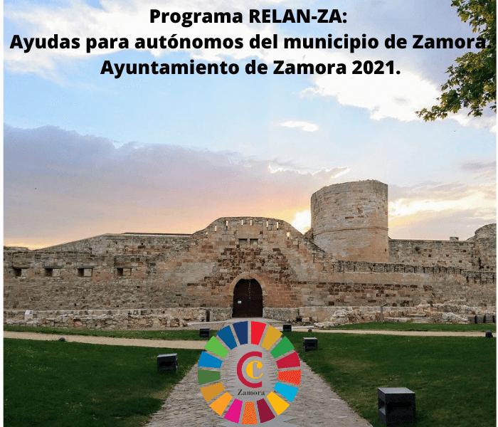 Programa RELANZA: Ayudas para autónomos del municipio de Zamora. Ayuntamiento de Zamora 2021.