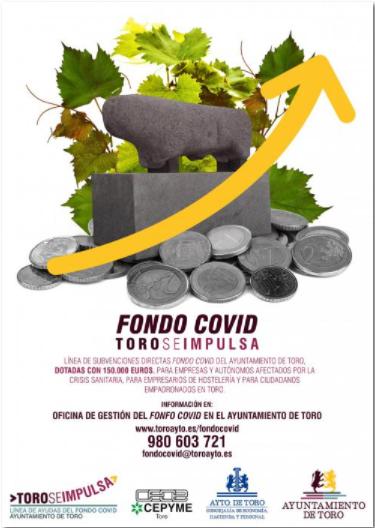 Línea de Subvenciones Directas Fondo Covid del Ayuntamiento de Toro