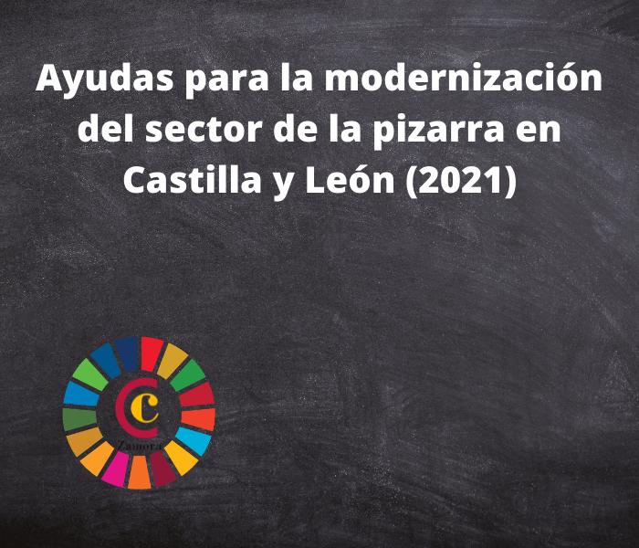 Ayudas para la modernización del sector de la pizarra en Castilla y León (2021)