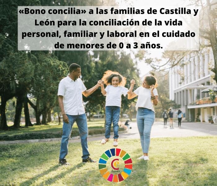«Bono concilia» a las familias de Castilla y León para la conciliación de la vida personal, familiar y laboral en el cuidado de menores de 0 a 3 años.