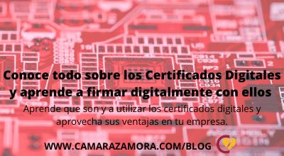 Certificados Digitales y aprender a firmar digitalmente con ellos