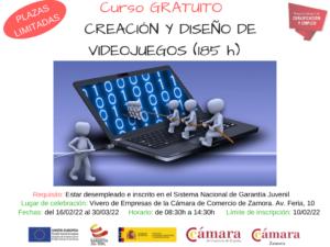 Curso Creación y Diseño de Videojuegos