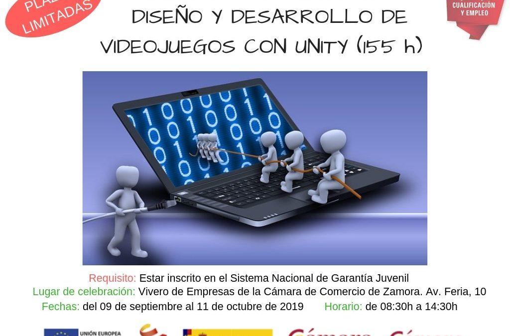 2ª Edición Curso Gratuito «Diseño y Desarrollo de Videojuegos con Unity»
