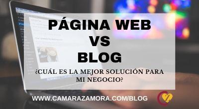 Página web o blog: Cuál es la mejor solución para mi negocio