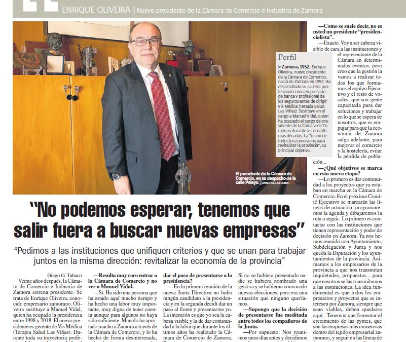 Entrevista La Opinión de Zamora al Presidente de la Cámara de Comercio de Zamora – Enrique Oliveira
