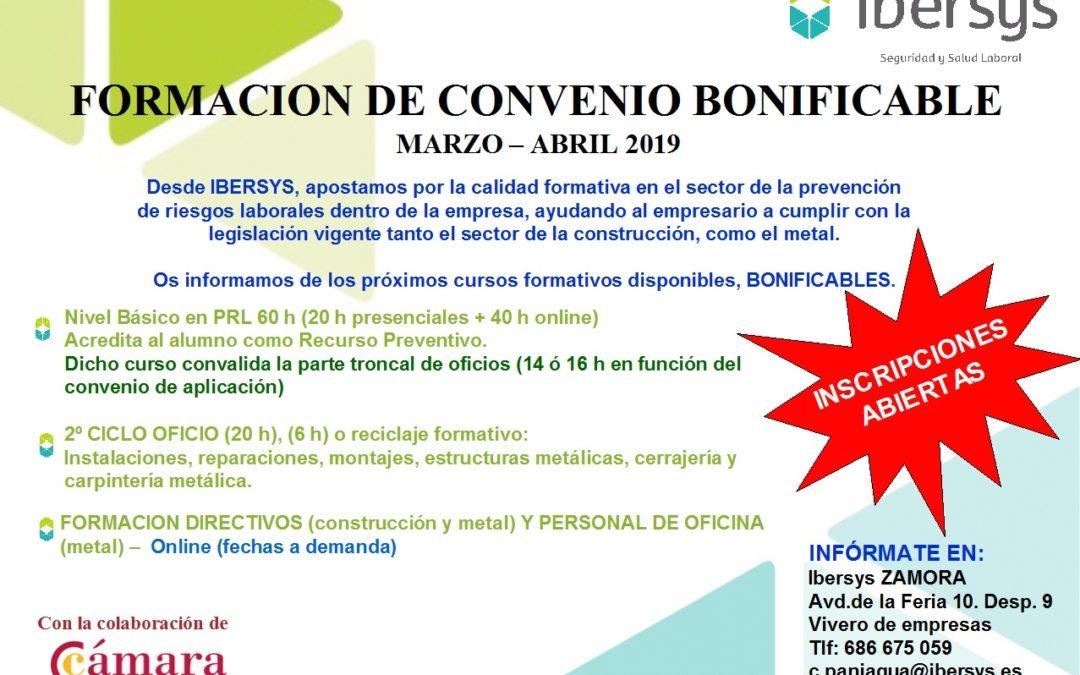FORMACIÓN CONVENIO CONSTRUCCION – METAL IBERSYS MARZO JUNIO