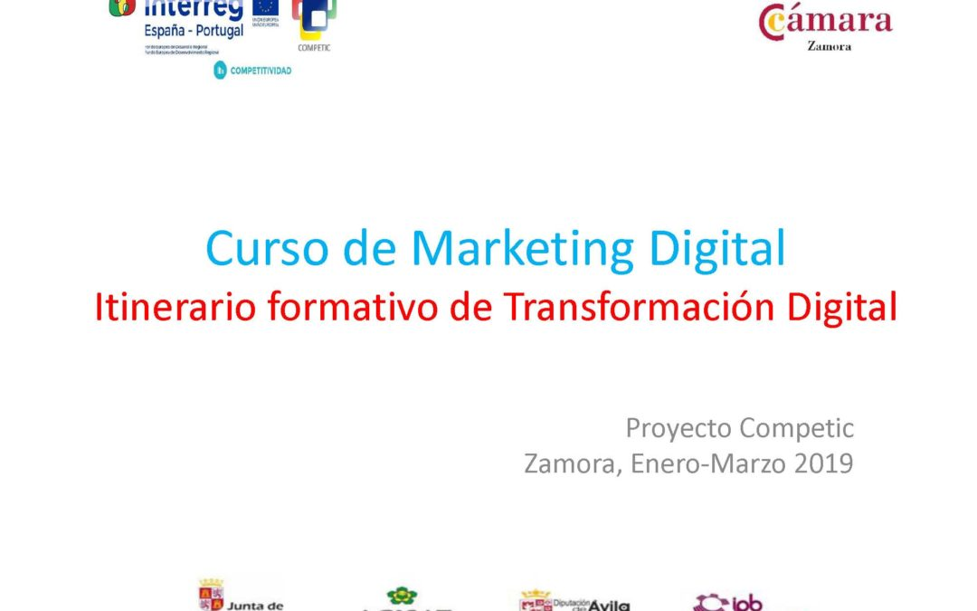 Curso de Marketing Digital – Itinerario formativo de Transformación Digital
