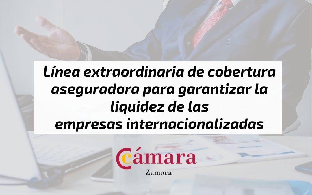 Línea extraordinaria de cobertura aseguradora para garantizar la liquidez de las empresas internacionalizadas