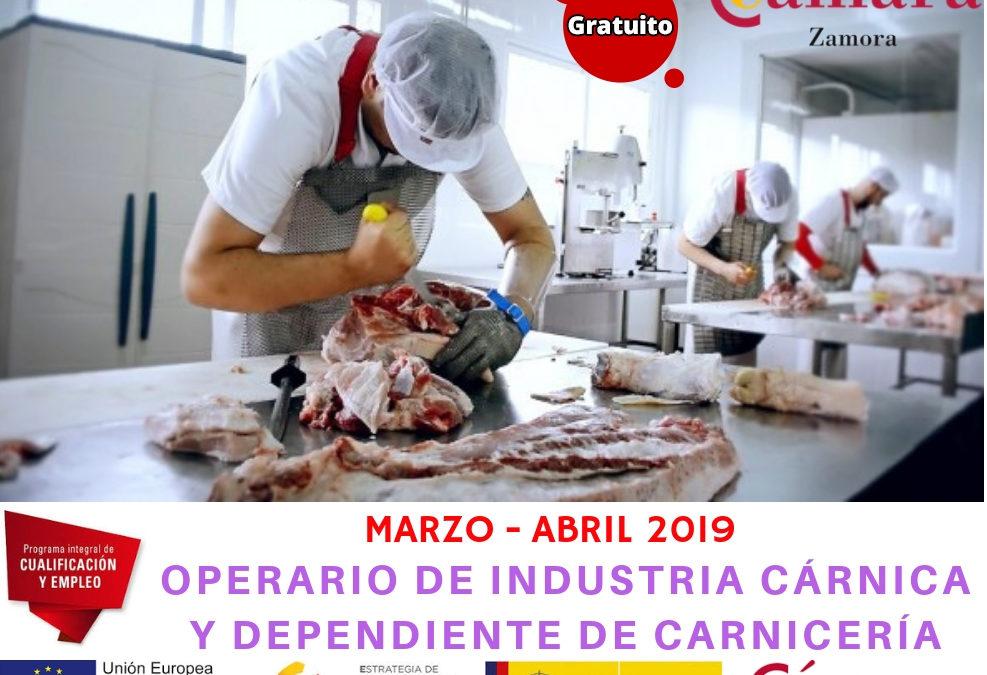 """Curso Gratuito """"Operario de Industria Cárnica y Dependiente de Carnicería"""""""