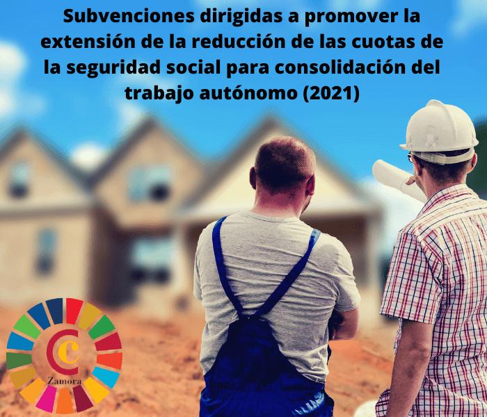 Subvenciones dirigidas a promover la extensión de la reducción de las cuotas de la seguridad social para consolidación del trabajo autónomo (2021)