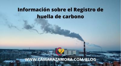 Información sobre el Registro de huella de carbono