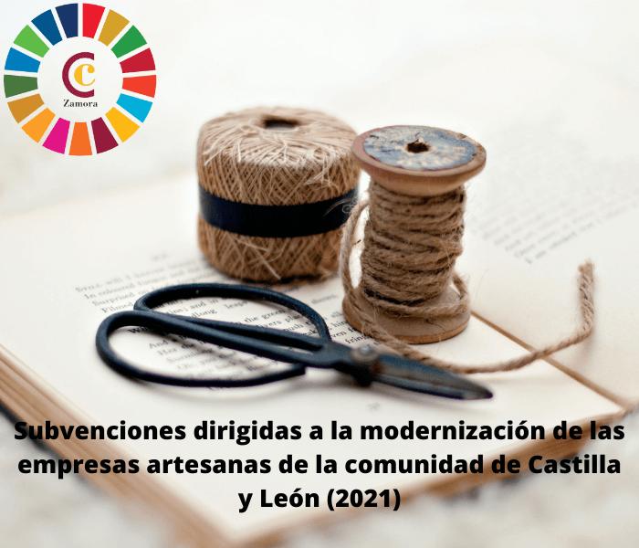 Subvenciones dirigidas a la modernización de las empresas artesanas de la comunidad de Castilla y León (2021)