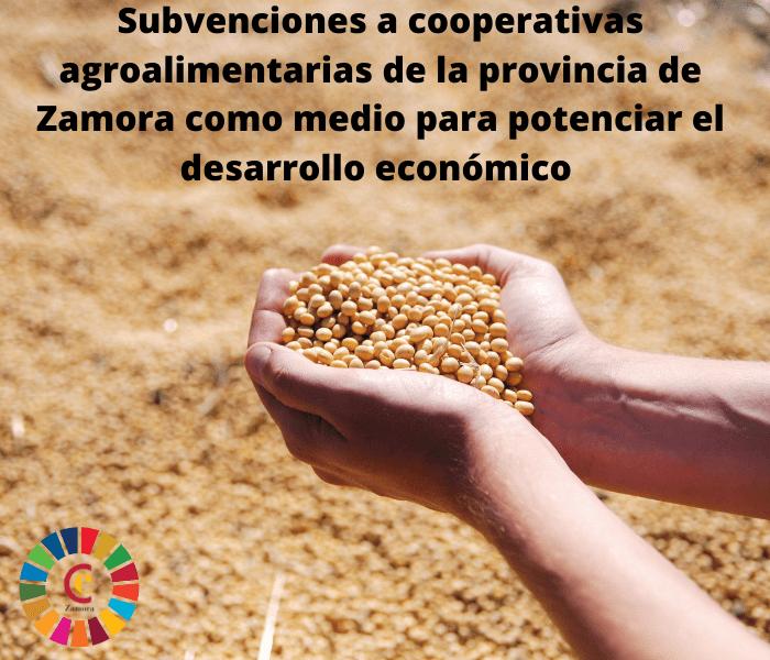 Subvenciones a cooperativas agroalimentarias de la provincia de Zamora como medio para potenciar el desarrollo económico