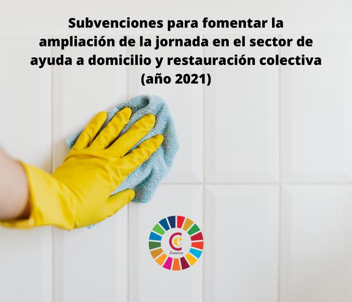 Subvenciones para fomentar la ampliación de la jornada en el sector de ayuda a domicilio y restauración colectiva (año 2021)