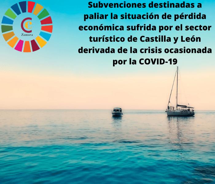 Subvenciones destinadas a paliar la situación de pérdida económica sufrida por el sector turístico de Castilla y León derivada de la crisis ocasionada por la COVID-19