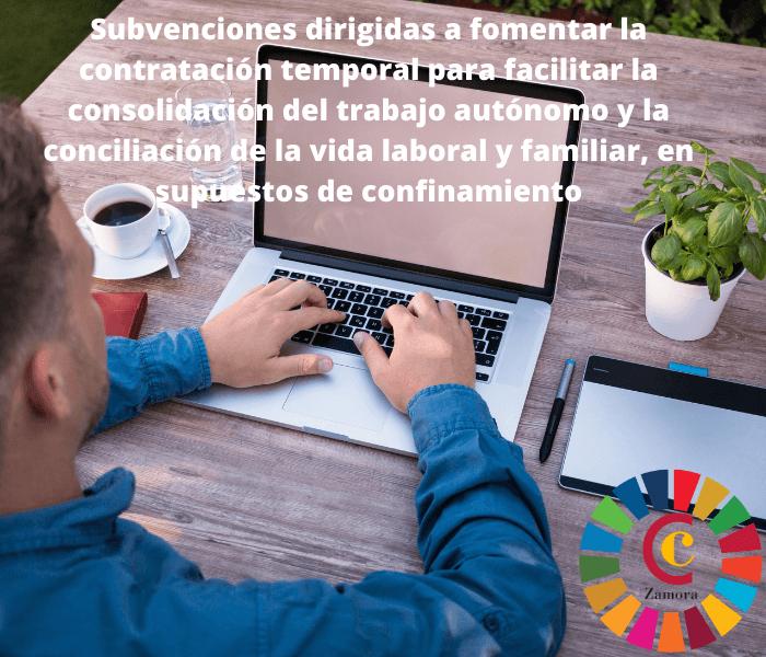 Subvenciones dirigidas a fomentar la contratación temporal para facilitar la consolidación del trabajo autónomo y la conciliación de la vida laboral y familiar, en supuestos de confinamiento
