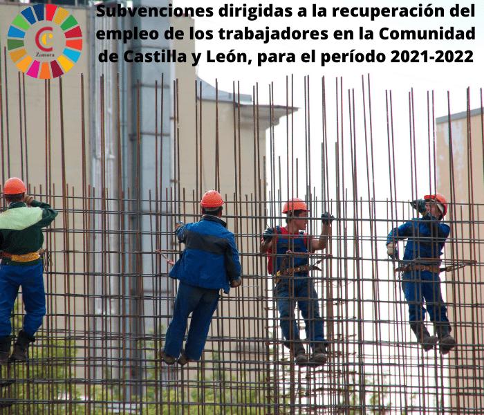 Subvenciones dirigidas a la recuperación del empleo de los trabajadores en la Comunidad de Castilla y León, para el período 2021-2022