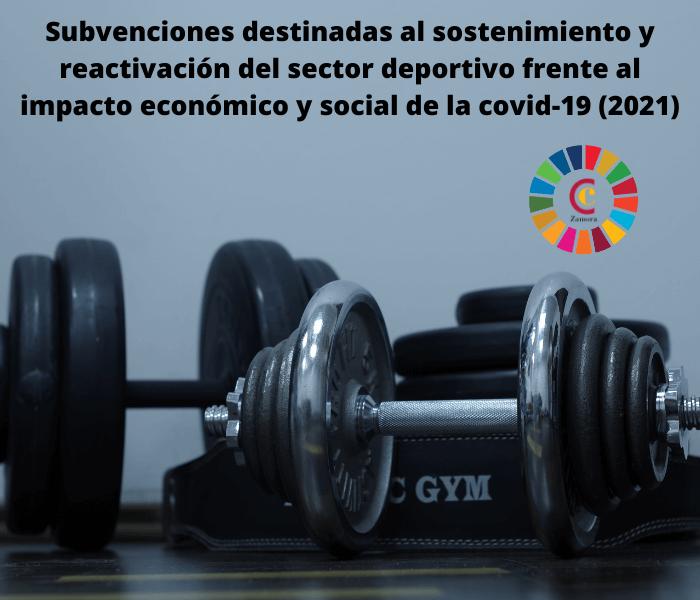 Subvenciones destinadas al sostenimiento y reactivación del sector deportivo frente al impacto económico y social de la covid-19 (2021)