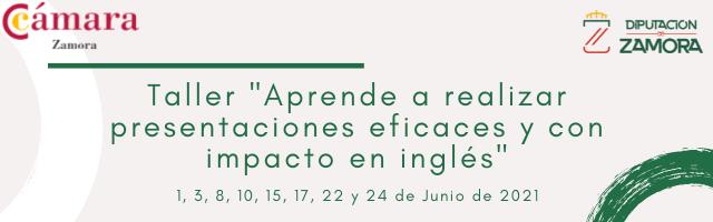 Taller Formativo Online Gratuito en Inglés «Aprende a realizar presentaciones eficaces y con impacto en inglés»