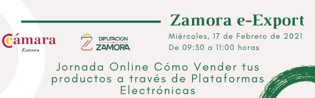 Jornada Informativa Online «Cómo Vender tus productos a través de Plataformas Electrónicas» – Presentación del Proyecto Zamora e-Export