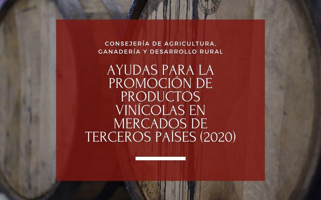 Ayudas para la promoción de productos vinícolas en mercados de terceros países (2020)