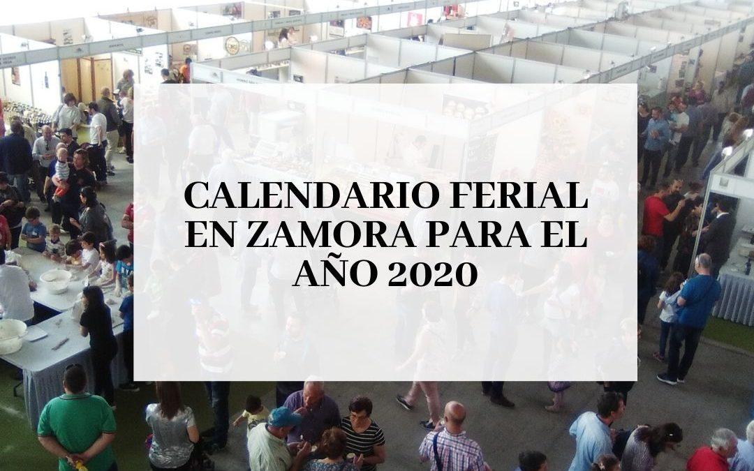 Calendario Ferial en Zamora para 2020