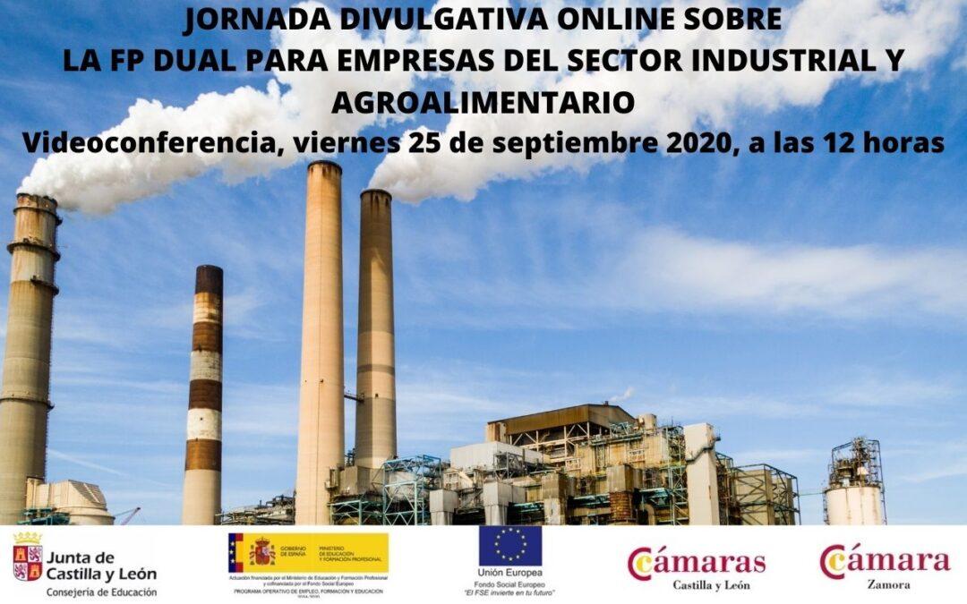 Jornada Divulgativa sobre la FP Dual para Empresas del Sector Industrial y Agroalimentario