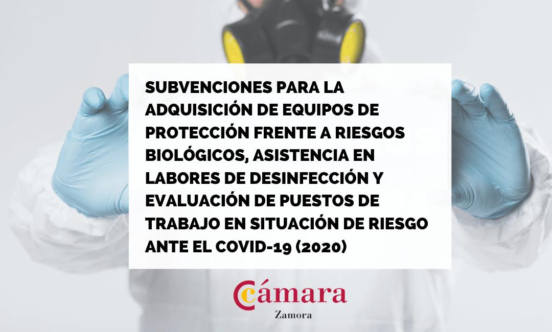 Subvenciones públicas para la adquisición de equipos de protección individual frente a riesgos biológicos y la asistencia para labores de desinfección y la evaluación de los puestos de trabajo que puedan ser población de riesgo frente al Covid-19