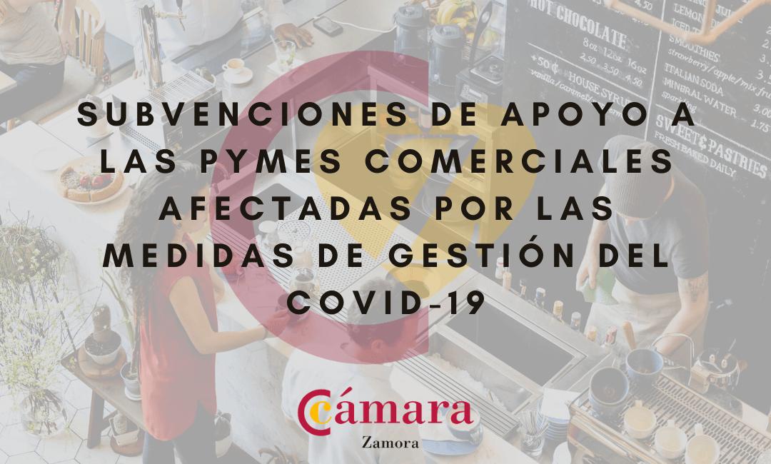Subvenciones de apoyo a las PYMES comerciales afectadas por las medidas de gestión del COVID-19